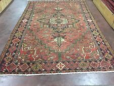 "Sale Antique Hand Knotted Tabriz-Heriz Persian Geometric Rug Carpet 7'7""x11 '4"""