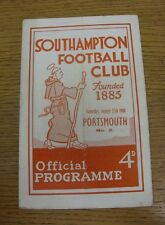 27/08/1960 Southampton v Portsmouth  (folded, heavy team changes).  We are pleas