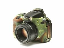 Camera silicon cover for Nikon D5600 + LCD Screen Protector Camouflage