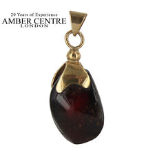 Unique and Rare Mexican/Dominican Amber Pendant in 9ct Gold -RRP£155 GPM009