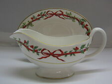 Portmeirion / Royal Worcester Holly Ribbons Sauciere 2 tlg.
