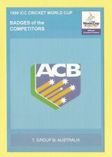 CRICKET  -  POSTCARD  -  1999  ICC  CRICKET  WORLD  CUP  BADGES  -  AUSTRALIA