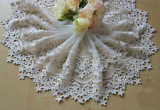 """1 Yard Lace Trim Off White Tulle Embroidery Retro Floral Flower 7.87"""" width"""
