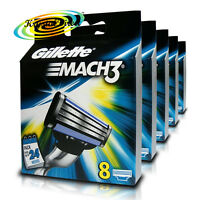 5x Gillette Mach3 Replacement Blades Cartridges Pack of 8 Genuine (40 Blades)