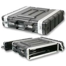 "NEW PA DJ 2U Equipment Rack Mount Flight Storage Case.Concert.19"" Stage.2  space"