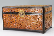 Asian Vintage Woodcarving Jewelry Box Accessory Box Free Shipping 584e07