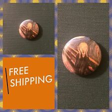 "The Scream Munch Painting Print 1"" Button Pin, Free Shipping Art Punk Rock Ska"
