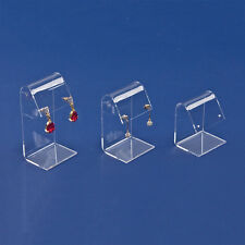 LOT OF 3 CLEAR ACRYLIC EARRING DISPLAY SET SHOWCASE DISPLAY COUNTER TOP STANDS