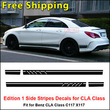 Edition 1 Style Stripe Sticker for Mercedes Benz CLA 45 W117 C117 X117 AMG Black