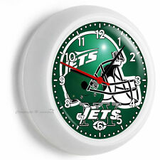 NEW YORK JETS NFL FOOTBALL TEAM LOGO WALL CLOCK MAN CAVE BOYS TV ROOM ART DECOR