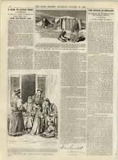 1891 Group Of Mongols In Chinese Turkestan Muzart Pass