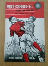 Middlesbrough v Crystal Palace Programme 09/12/67