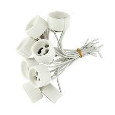 100 x Fassungen GU10 230V für Halogen LED Lampe Sockel Fassung Keramik mit Kabel