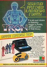 Pubblicità Advertising 1983 SEBINO TOMY Tron