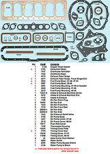 New 1937-1960 Chrysler Desoto Dodge 6 201-218-241-251-265 Full Engine Gasket Set