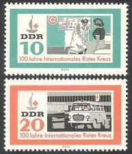 Germany 1963 Red Cross/Medical/Health/Ambulance/Motors/Transport 2v set (n24680)