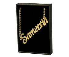 """Name Necklace """"SAMEERIA"""" - 18ct Gold Plated - Wedding Custom Made Jewellery Gift"""