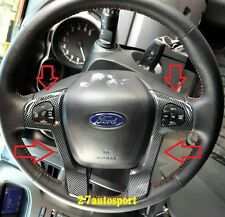 STEERING WHEEL COVER IN KEVLAR CARBON COLOR FOR FORD RANGER T6 2012 13 14