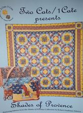 Two Cats/1 Cate Pattern Shades of Provence Quilt Pattern-FREE US SHIPPING!