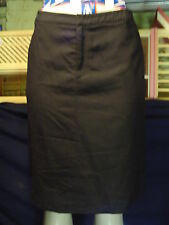 Misses banana Republic Factory Store Size 8 Black Stretch Wool Aline Skirt EUc