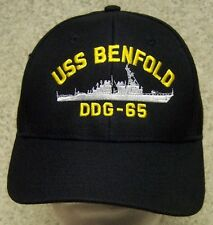 Embroidered Baseball Cap Military Navy USS Benfold NEW 1 hat size fits all