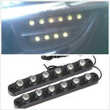 6LED White Super Bright Cars DRL Daytime Light Running Lamps Strips For Daihatsu