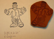 Cling mounted Frankenstein Rubber Stamp