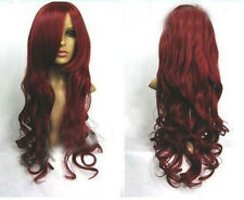 HELLOJF126 SEXY  dark red wavy hair wig health women's wig  wig