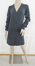 Nwt Laundry by Design Wrap Knit Sweater Dress belT Sz L Large Dark Charcoal $168
