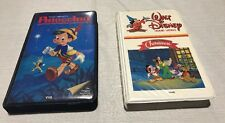(2)Vintage VHS Tapes A Walt Disney Christmas - Pinocchio Original Clam Shell