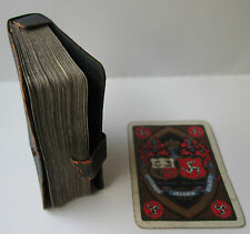 c.1897 Armorial Goodall & Son Limd. Wide Playing Cards SUSPENSOL LEATHER CASE