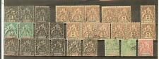 LOT MARTINIQUE OBLITERES colonies francaises   COTE + € 50