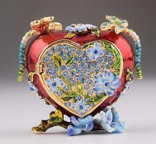 Heart w/ fly trinket box by Keren Kopal Austrian Crystal Jewelry box Faberge