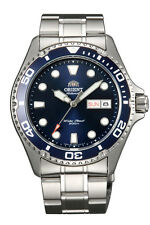NEW Orient Blue  Ray ii Silver Automatic Diver Men Watch 1 BOX + MANUAL Warranty