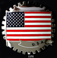CAR GRILLE EMBLEM BADGES -  USA(FLAG)