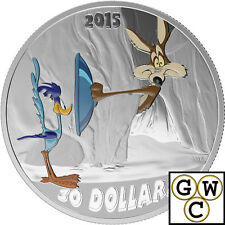 2015 $30 Fine Silver Coin-Looney Tunes Classic Scenes;Fast and Furry-ous (17420)