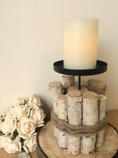 Rustic Candle Holder Large Twig Base Chic Wedding Centerpiece Table Decoration