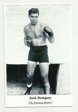BOXER JACK DEMPSEY PHOTO POSTCARD / TRADE CARD FIGHT BOXING SPORT PUGILIST