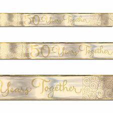 15ft Gold 50th Golden Anniversary 50 Years Together Party Foil Banner Decoration