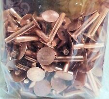 "#9 Large 1"" 50 Pack of COPPER RIVETS & BURRS 11282-00 Tandy Leather Rivet Washer"
