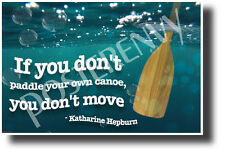 """If You Don't Paddle Your Own Canoe..."" - Katharine Hepburn - Poster (cm1214)"