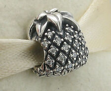 NEW Genuine Lovely Pandora Silver CZ Pineapple Charm 790363 - Mark Occasions.DO
