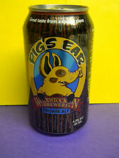 NEW CRAFT PIG'S EAR WOODSTOCK BREWERY BROWN ALE BEER CAN NEW HAMPSHIRE PIG HOG !
