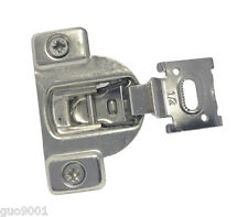 "24 Face Frame Nickel Cabinet Hinges Euro Concealed 1/2"" Open 110 Degree 35mm Cup"