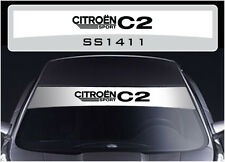 SS1411 Citroen C2 Sport sun strip graphics stickers decals sunstrip
