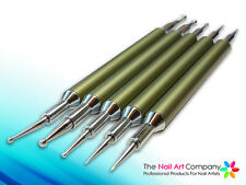 Nail Art Dotting / Marbling Tools - Pro Bronze Aluminium Handle Set (5 Tools)