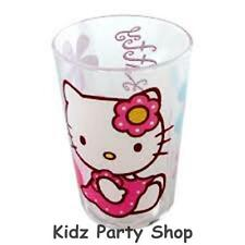 Hello Kitty Bamboo Party - Plastic Glitter Glass - Birthday - FREE POST IN UK