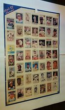 1983 HALL OF FAME 33X21 BASEBALL CARD POSTER MANTEL GEHRIG COBB KOUFAX WAGNER