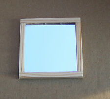 Natural Finish 1:12 Scale Wall Mirror Dolls House Miniature Accessory Sq