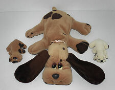 "Vintage 1984 POUND PUPPIES MUM & BABIES Plush Soft Toys - 18"" - Puppy - Mummy"